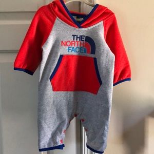 North face Infant logo wear one piece